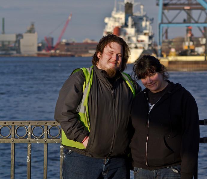 Shane & Sarah, Gloucester, NJ. January 2012
