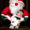 Erika Anna Lee Tablas, two months old with Santa