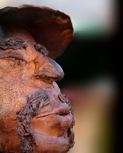 Ft. Myers Bronze Statue's Head