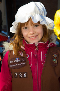 Ashleigh - Brownie Scouts Troop 1789 George Washington Birthday Parade 2014 in Alexandria, Virginia
