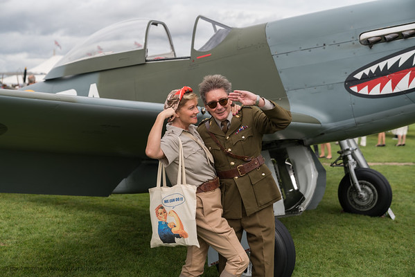 Plane Posing - The Goodwood Revival 2018