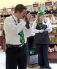 St. Patrick's Day 2011 at the SaveMart, Angels Camp, CA. Cameron on optics!