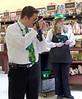St. Patrick's Day 2011 at the SaveMart, Angels Camp, CA. Cameron on optics!
