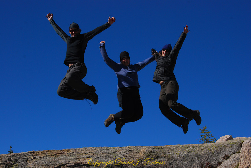 Staff - Jumping for joy at the top of Cutthroat Pass