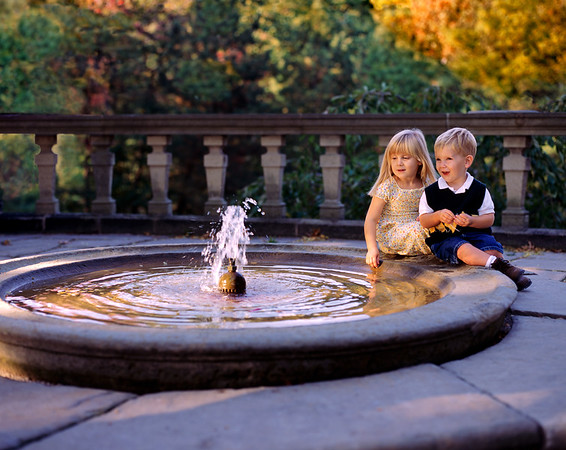 Fountain and Children