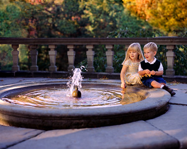 Fountain and Children