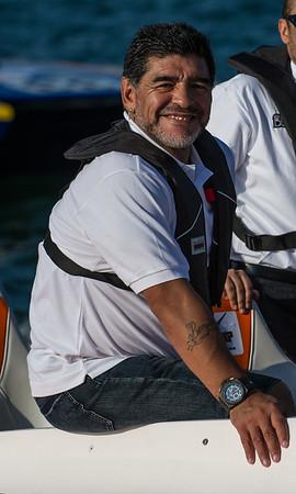 Environmental Portraits. Diego Maradona
