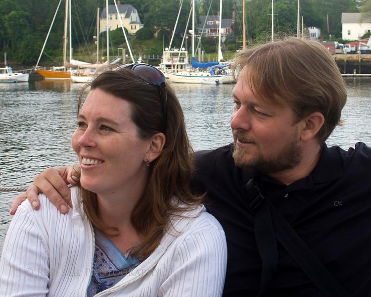 Dana and Craig aboard the schooner Appledore.