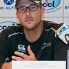 Daniel Vittori, Captain of the New Zealand Cricket team answers questions at the press conference ahead of three One Day Internationals to be held in Abu Dhabi and the two T20 matches to be held in Dubai.  Yas Marina, Abu Dhabi, 2nd November, 2009.  Photo by Stephen Hindley/Sportdxb