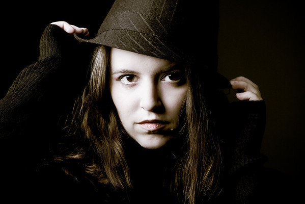 Liz with Hat