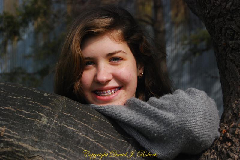 Rachel in a big tree