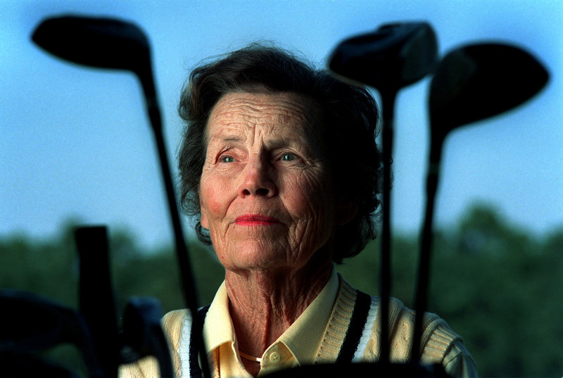 Professional golfer Peggy Kirk Bell.