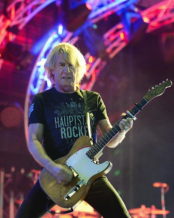 Rick Parfitt OBE of Status Quo at the Silverstone Classic 2015