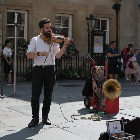 Violin Busker- Bath - 5th August 2018