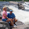 My wife, Mary Lou and I at Nesowadnehunk Falls (Penobscot River) just off the Golden Road in the North Woods of Maine near Baxter.