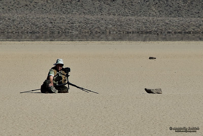 Photographers of Racetrack Playa, Death Valley National Park, California.