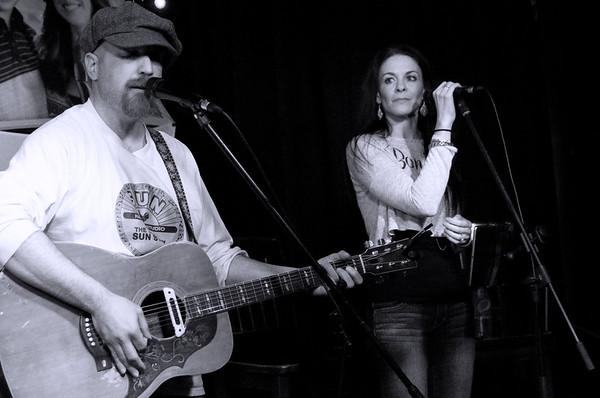 Dave Colon and Adelle Borchetta ~ black and white