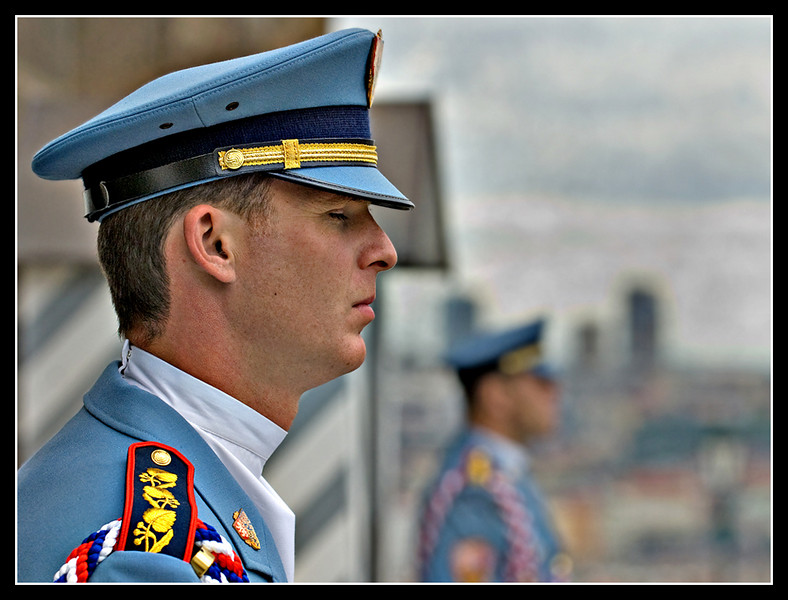 Caught Napping - Prague Castle Guard