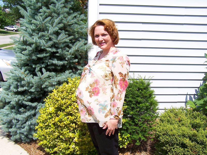 This was taken the day of Katie Mohr's baby shower on June 18th - 10 days before Alex was born.