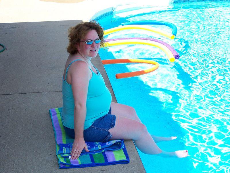 Keeping cool in the June heat! 37 weeks.