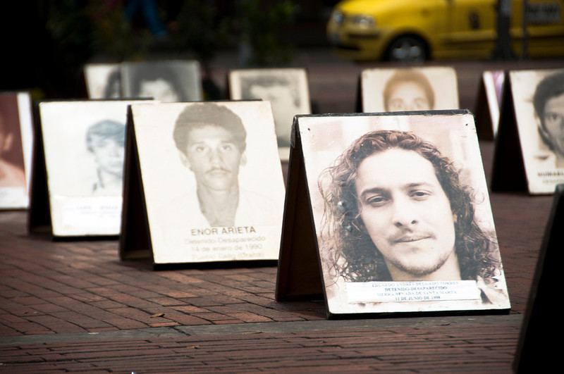"""""""Do not permit that the portraits of the victims remain a static photograph in a family album""""—this is what family members ask for their disappeared loved ones."""