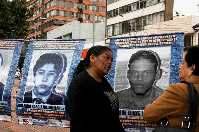 Many people approached, asking family members of the disappeared about the event.  With tears in their eyes, they told the stories of their daughters, sons, brothers and sisters that were disappeared.  One woman told how it took seven years to find the body of her only child.