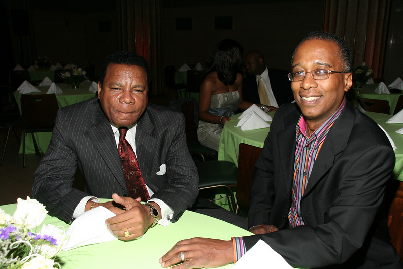 James Connolly and Joseph Placide at The Young Culinary Masters' Recipe for Success Benefit Gala at The Broad Street Ballroom, 41 Broad Street New York, Ny 10004 <center>New York, NY April 28, 2007 Photo by ©Steve Mack
