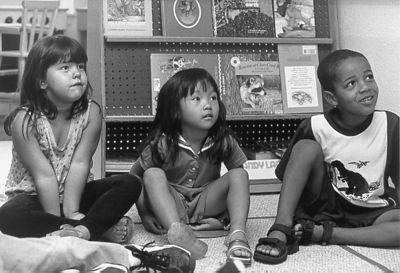 3 kids learning