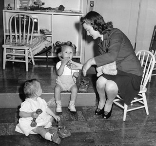 1940s mom and babies