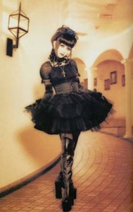 this is typical Gothic Haraguku and Lolita styles.. This is what I am looking for..