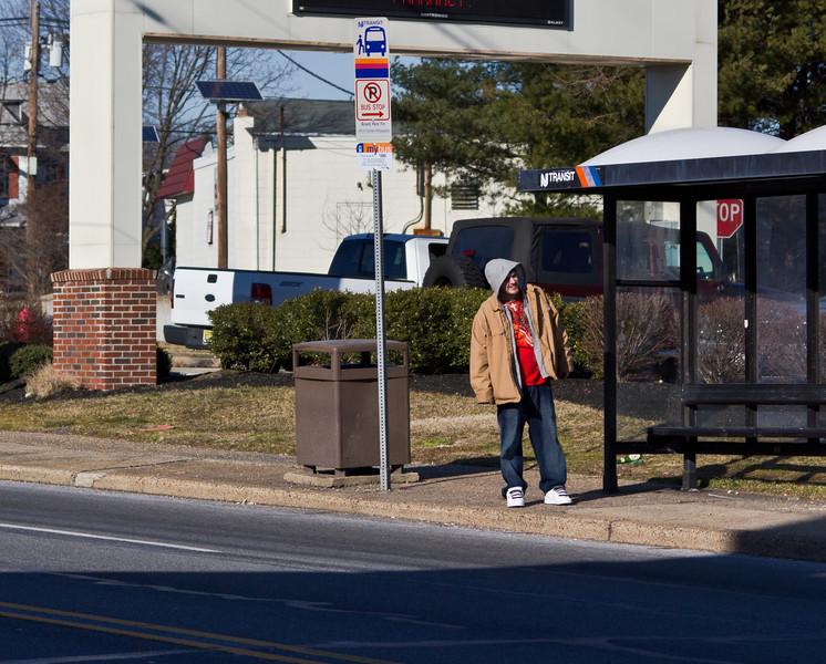 Where is that bus? Mt. Ephraim, NJ. February 2012