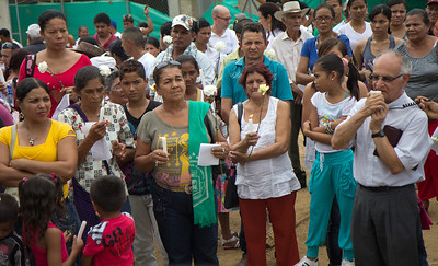 The paramilitaries took them to the central plaza, made them lie face down, and selected 43 villagers, three of them children. Those they gagged them and took away.  Photo: Alejandro González/PBI