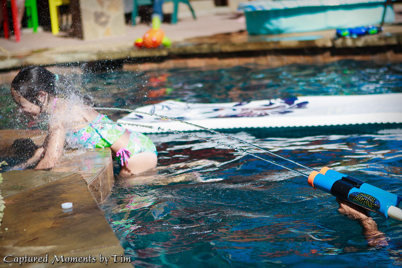 Poolside Birthday<br /> Stella celebrates her second birthday by the pool.
