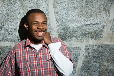African-American male laughing.