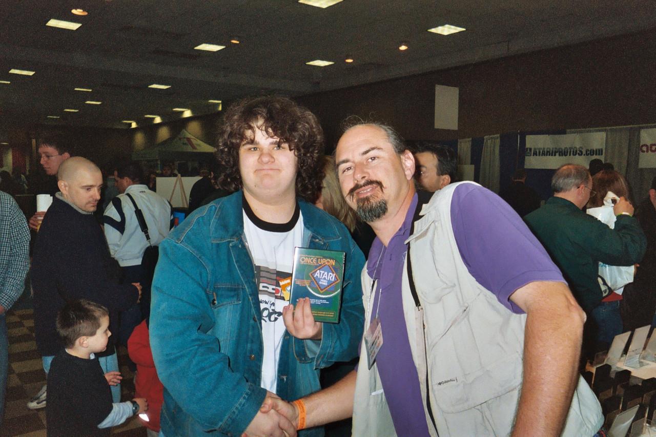 GameBrain (left) with the legendary Howard Scott Warshaw