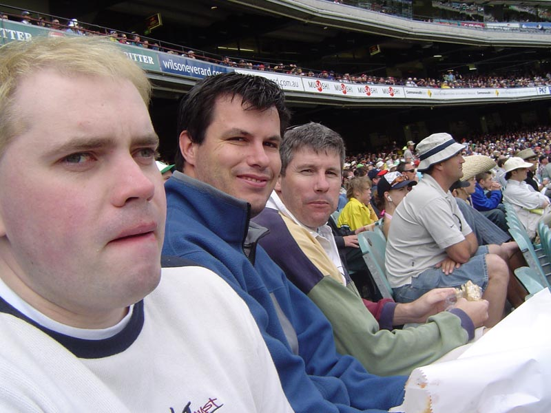 Ed, me and Andy at the cricket
