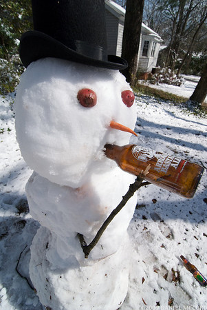 Real snow men