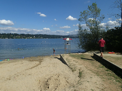 Wed, August 6th, at the public beach on the north end of Mercer Island.  ..[I had first spent four days in the Bellingham area.]