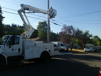 The electric utility to the rescue - power restored!