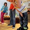 """Piatt Pund gets a laugh out of the  acting exercise.<br /> Tommy Hinkley and his wife, Tracey, own a business in Superior called Reel Kids. The pair teach kids and teens film and television acting.<br /> For a video about Reel Kids, go to  <a href=""""http://www.dailycamera.com"""">http://www.dailycamera.com</a>.<br />  Cliff Grassmick / September 17, 2011"""