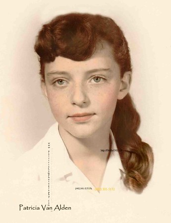 Patricia about age 12.  My hair was NOT this red; more auburn