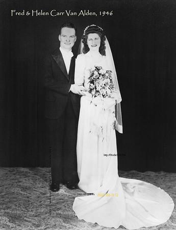 Fred & Helen Carr VanAlden wedding names
