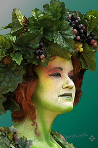 Renaissance Green ~ A cropped version of the Green Lady photographed at the 2012 Renaissance Faire.