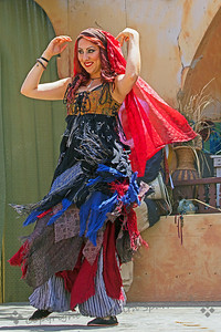Dancer in Action ~ One of the belly dancers in the troupe performing at the 2013 Renaissance Pleasure Faire in Irwindale, California.