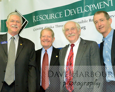 Leonard Horst, Marc Langland, Scott Goldsmith, Rick Rogers, Resource Development Council for Alaska Meeting, 4-1-14, Photo by Dave Harbour