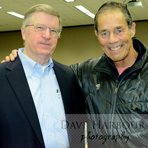 John Norman (L) with Governor Tony Knowles, Resource Development Council for Alaska Meeting, 4-1-14, Photo by Dave