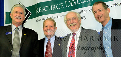 Leonard Horst, Marc Langland, Scott Goldsmith, Rick Rogers, Resource Development Council for Alaska Meeting, 4-1-14, Photo by Dave