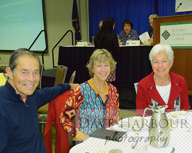 Tony Knowles, Susan Knowles, Jane Anvik at Resource Development Council for Alaska Meeting, 4-1-14, Photo by Dave
