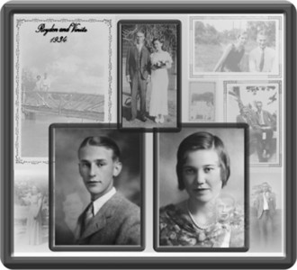 my grandparents (Royden and Vinita High's) Wedding