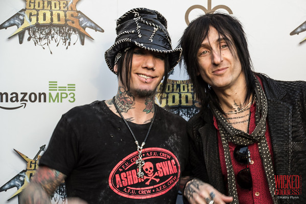 Guns N' Roses' DJ Ashba and Richard Fortus at the Revolver Golden Gods 2014